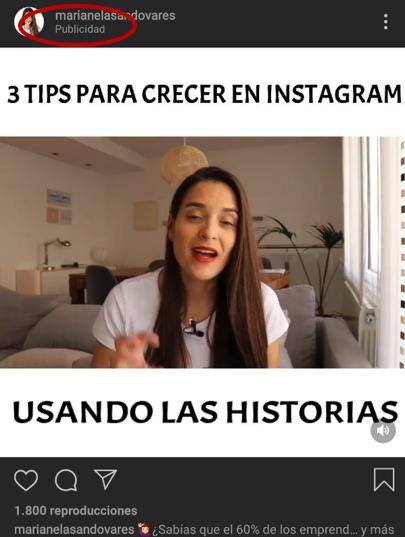 Formatos de publicidad nativa instagram